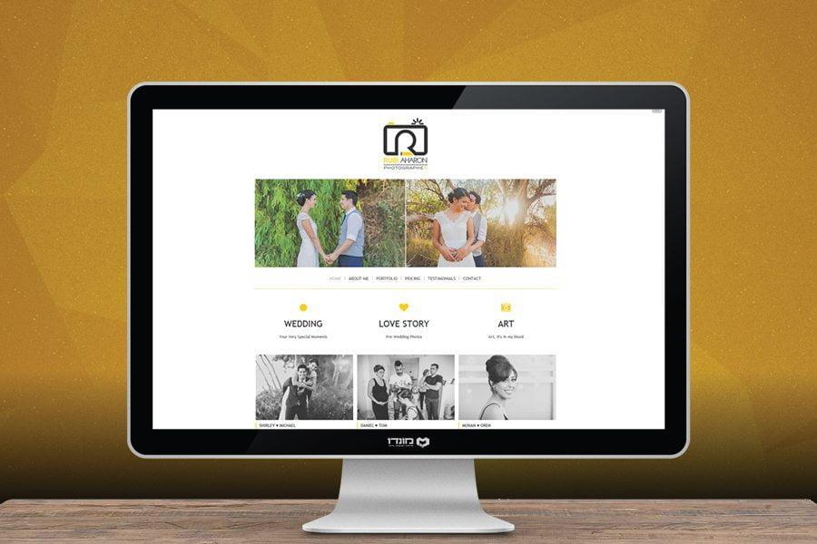 עיצוב אתר לרובי אהרון צלם חתונות וצילומי חוץ