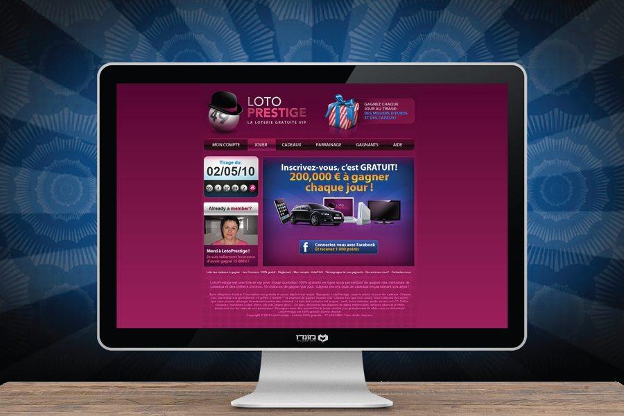 עיצוב אתר ללוטו פרסטיג' משחקי הימורים