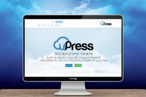 עיצוב גרפי ובניית אתר ל upress