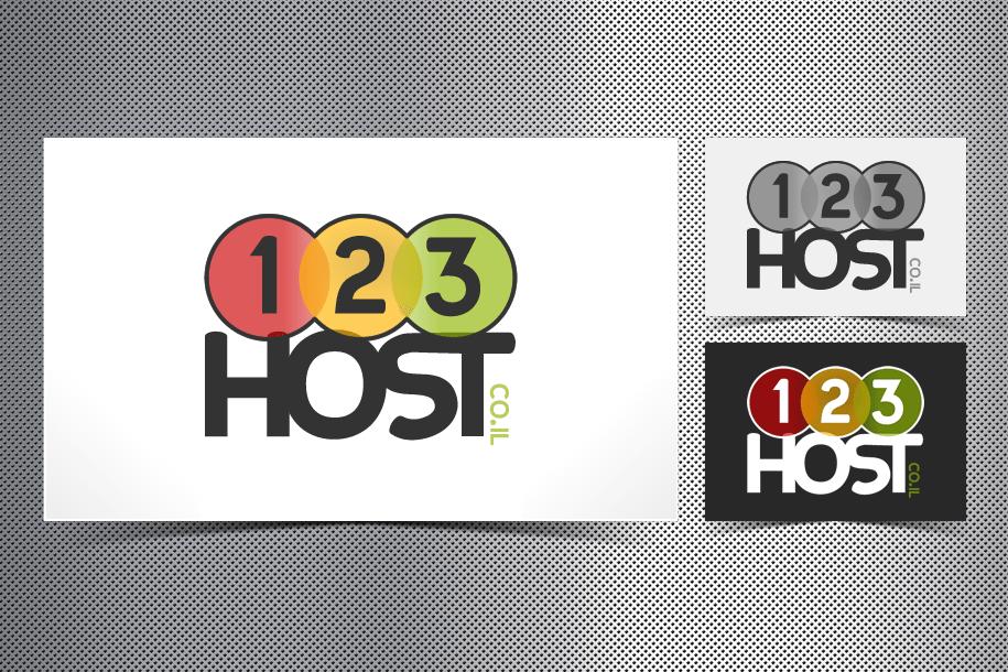 עיצוב לוגו ל 1 2 3 host אחסון אתרים