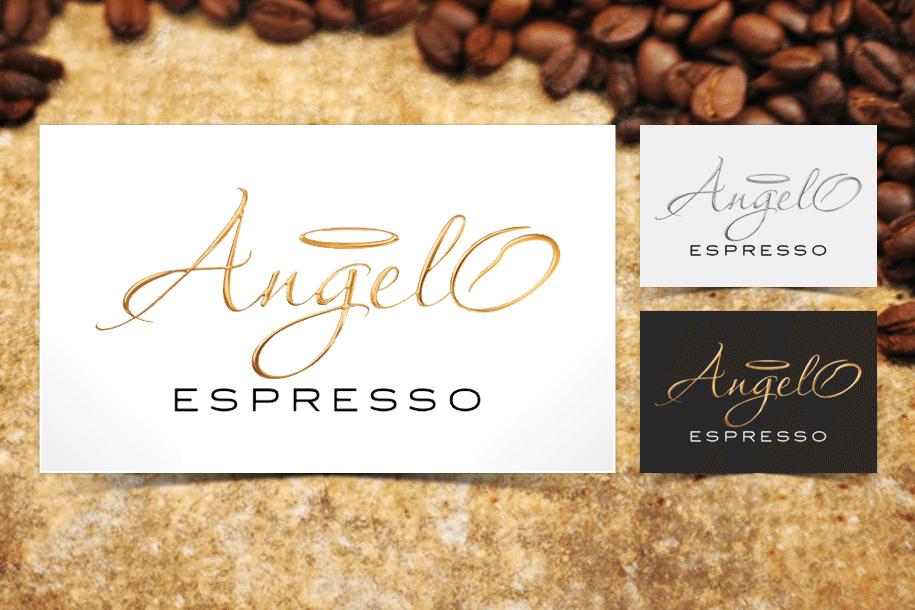 עיצוב לוגו לangelo espresso קפסולות קפה