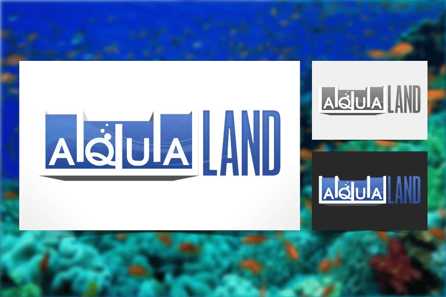 עיצוב לוגו ל aqua land
