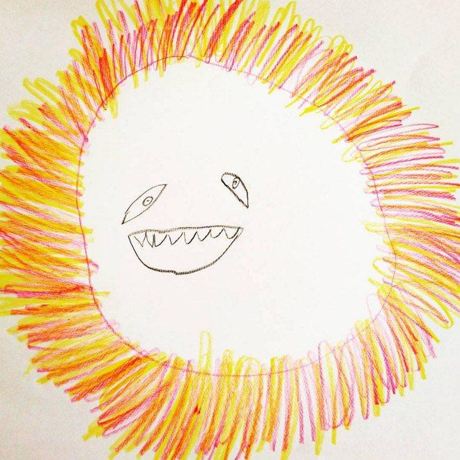 ציור של אריה על ידי ילד בן 6