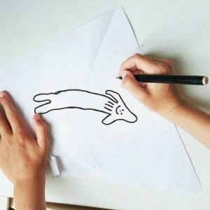 ציור של דולפין על ידי ילד בן 6