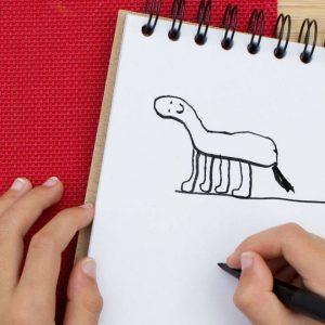 ציור של זברה על ידי ילד בן 6