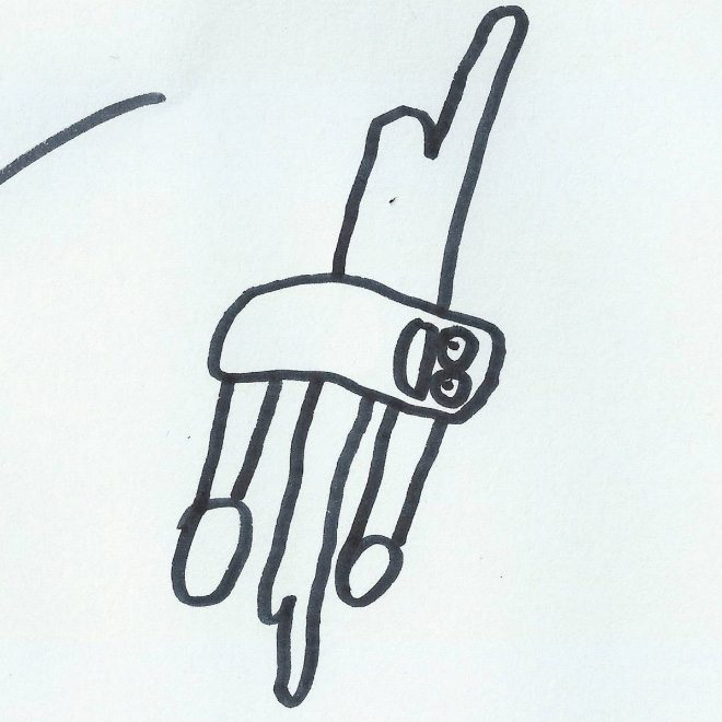 ציור של שחף על ידי ילד בן 6